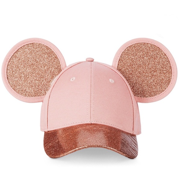 60fb599ee Mickey Mouse Rose Gold Ears Hat by Cakeworthy NWT